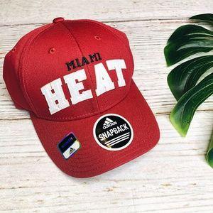 Miami Heat NBA Adidas Adjustable Snapback Hat OSFM